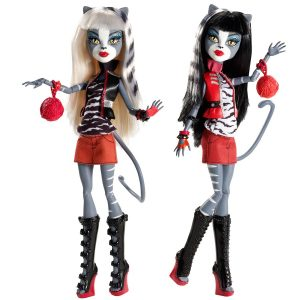 Boneca Monster High Meowlody e Purrsephone – Assinada
