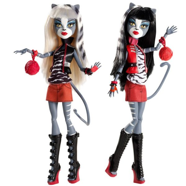 Boneca Monster High Meowlody e Purrsephone – Assinada