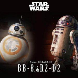 Star Wars BB-8 e R2-D2 Model Kit Bandai