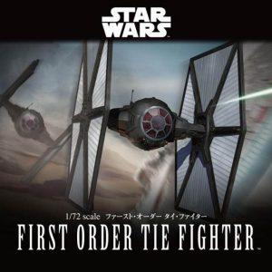 Star Wars First Order Tie Fighter 1/72 Model Kit BANDAI