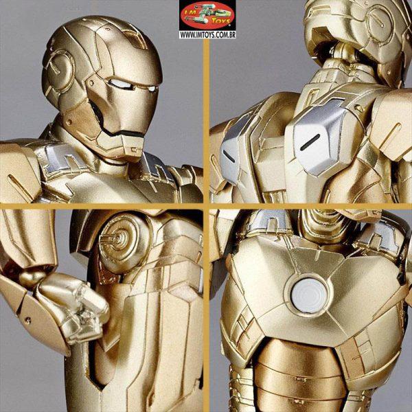 Marvel Iron Man Homem de Ferro MK-XXI Midas Revoltech Kayodo