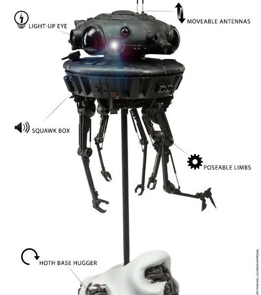 Star Wars Imperial Probe Droid 1/6 Action Figure High Deluxe Sideshow