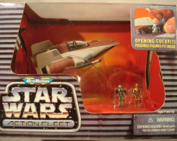 Star Wars A-Wing Fighter Action Fleet Galoob