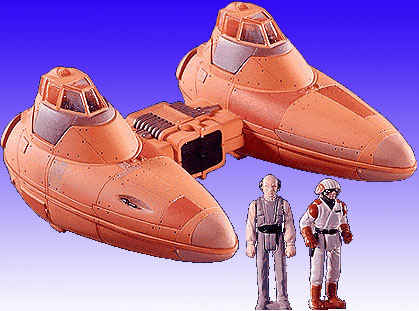 Star Wars Twin Pod Cloud Car Action Fleet Galoob