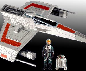 Star Wars E-Wing Fighter Action Fleet Galoob