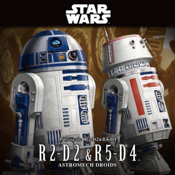 R2-D2 e R5-D4 1/12 Model Kit BANDAI