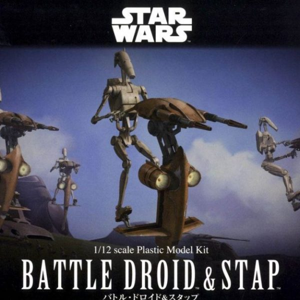Step and Battledroid 1/12 Model Kit BANDAI