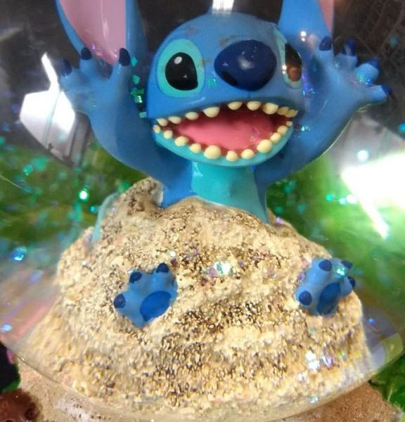 Disney Store Stitch Snow Globe and Music Box