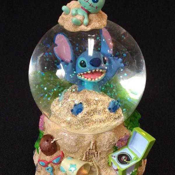 Disney Store Stitch Snow Globe and Music Box