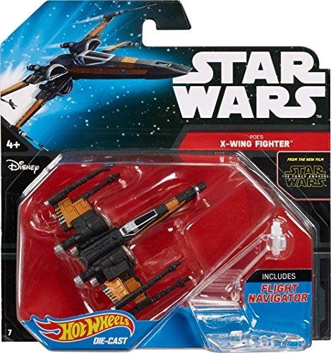 Star Wars T-70 Poe's X-Wing Fighter Die Cast Hot Weels