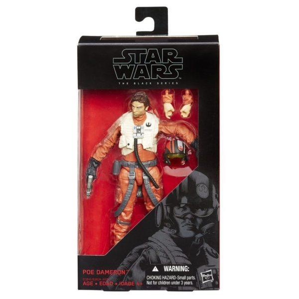 Star Wars Poe Dameron Action Figure Pilot Black Series 6″ Hasbro
