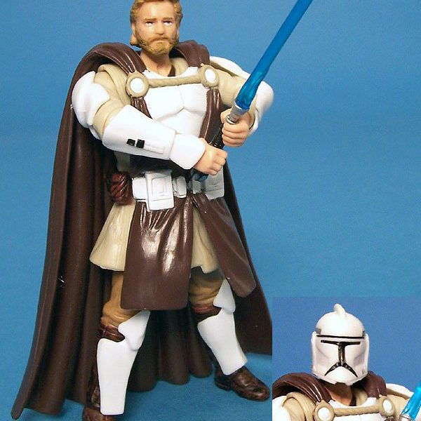 Star Wars Action Figure Obi Wan Kenobi General CW Hasbro