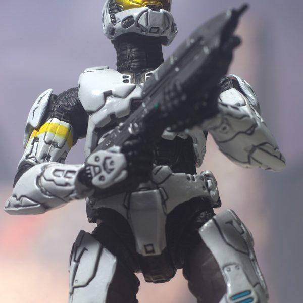 Halo-3 Spartan White Action Figure Mc Farlane Toys