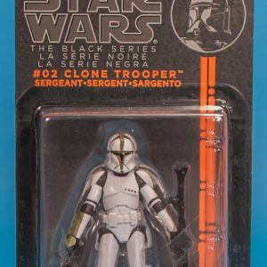 Star Wars Action Figure Clone Trooper Sargent Black Series Hasbro