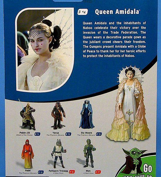 Star Wars Action Figure Queen Amidala Peace Cerimony Hasbro