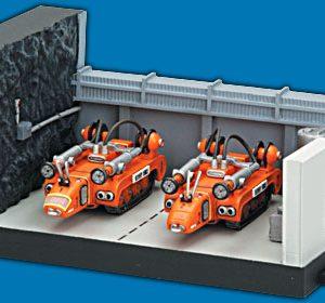 Thunderbirds Rechovery Vehicles Hanger Konami
