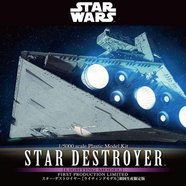 Star Wars STAR DESTROYER com iluminação 1/5000 Bandai