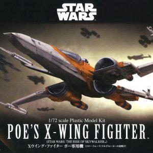 Star Wars Ep.09 Poe Dameron T-70 X-Wing Fighter 1/72 Model Kit BANDAI