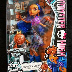 Boneca Monster High Robecca Steam Art Class Assinada
