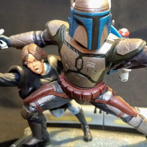 Star Wars Jango Fett e Boba Fett Unleashed Statue  Hasbro