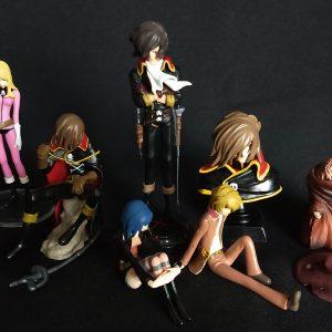 Captain Harlock Mini Statue Set
