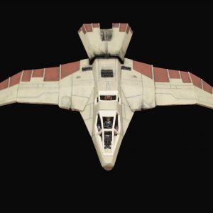Buck Rogers Hawk Starfighter 1/48 Resin Model Kit