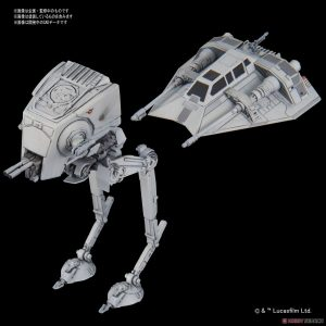 Star Wars AT-ST e Snowspeeder Mini Bandai
